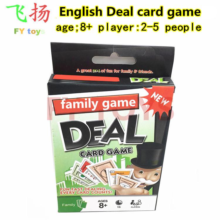 休闲娱乐桌游棋牌英文ENGLISH DEAL CARD GAME大富翁卡纸牌扑克