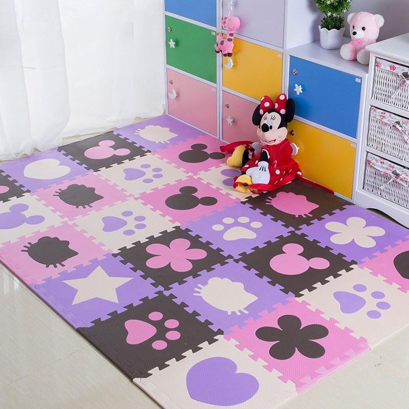 泡沫地垫宝宝爬行垫拼图婴儿童爬爬垫加厚2cm2.5cm拼接垫30x30
