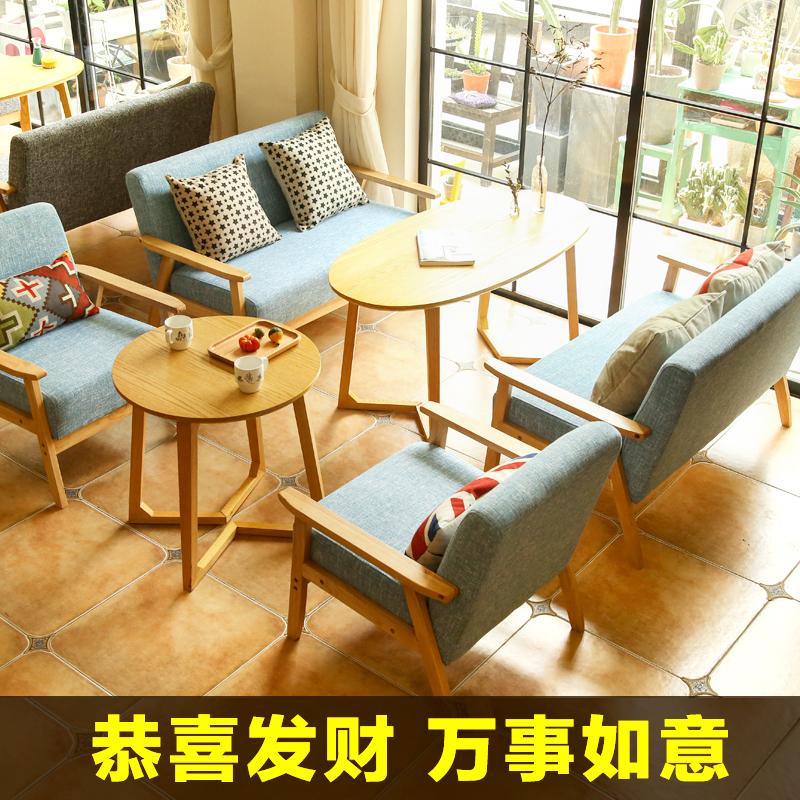 Стол для дискуссионного стола и кресла простой для отдыха Десертный чайный магазин Western Cafe Double Deck Офисный диван