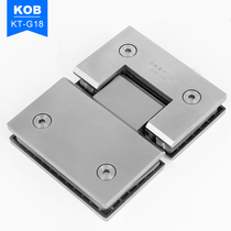 KOB brand 304 stainless steel glass door Hinge 180 degree hinge shower room accessories bathroom clip foliage
