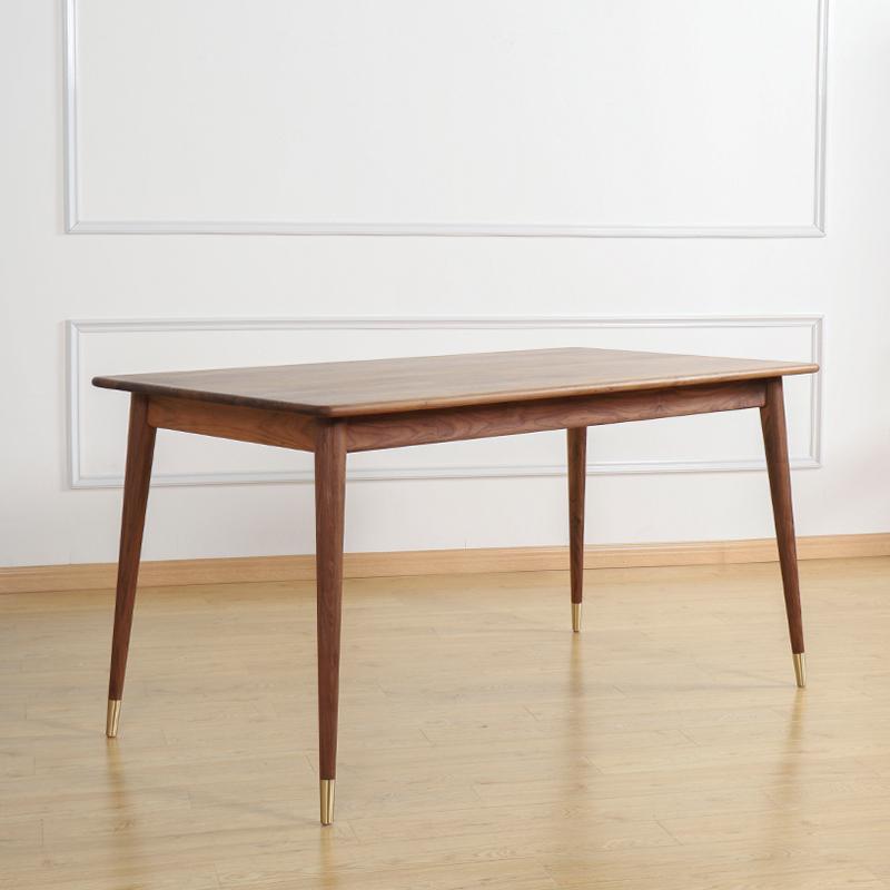 券后1999.00元初沐粉丝特价 黑胡桃木长方形饭桌北欧小户型餐桌实木餐桌椅组合