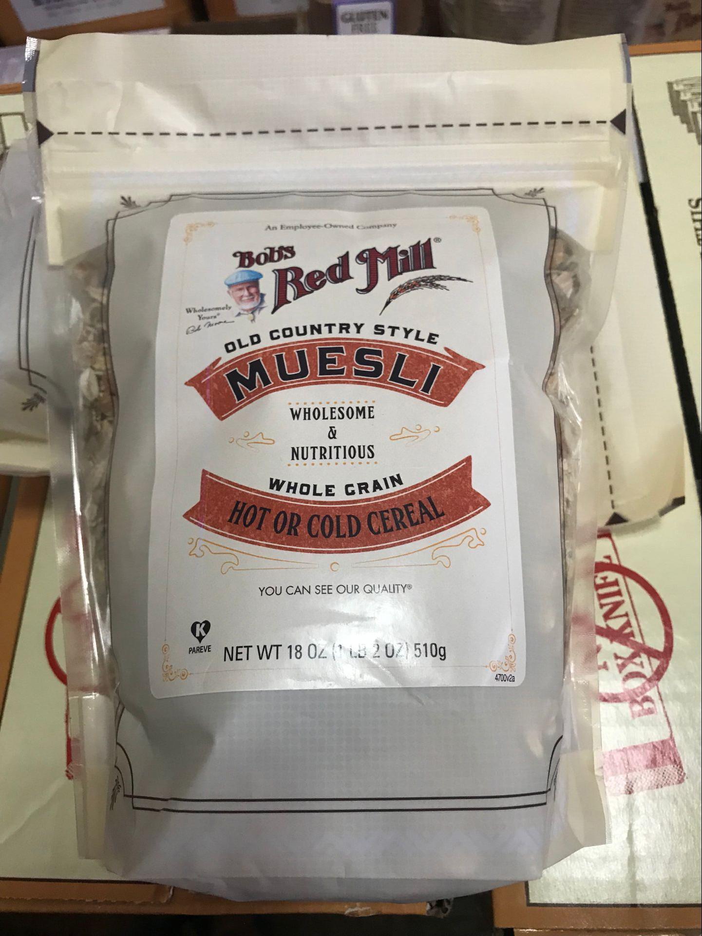包邮美国红磨坊Bob's Red Mill  Muesli水果坚果燕麦片510G