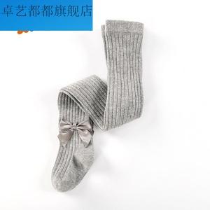 儿童连裤袜秋冬季女童打底裤练功白丝袜夏季薄款跳芭蕾舞蹈袜子9