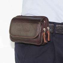 苹果三星手机包男穿皮带腰包3.5寸4.7寸5寸5.5寸6.0真皮零钱小包