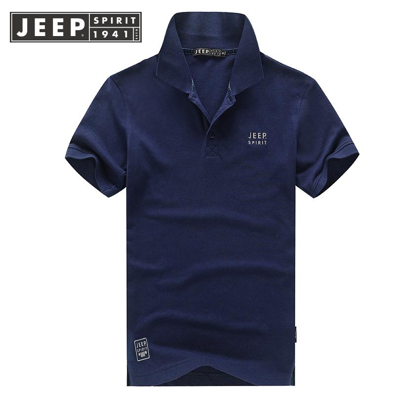 战地jeep旗�店官方正品男装夏季薄款体恤 男士短袖polo衫翻领t恤