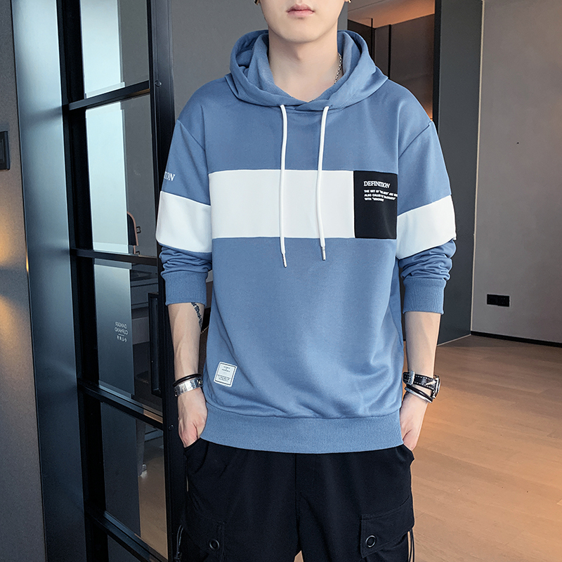 T-shirt 2021 new style hooded autumn autumn long sleeve t-shirt mens sweater bottomed shirt mens round neck Pullover Sweater