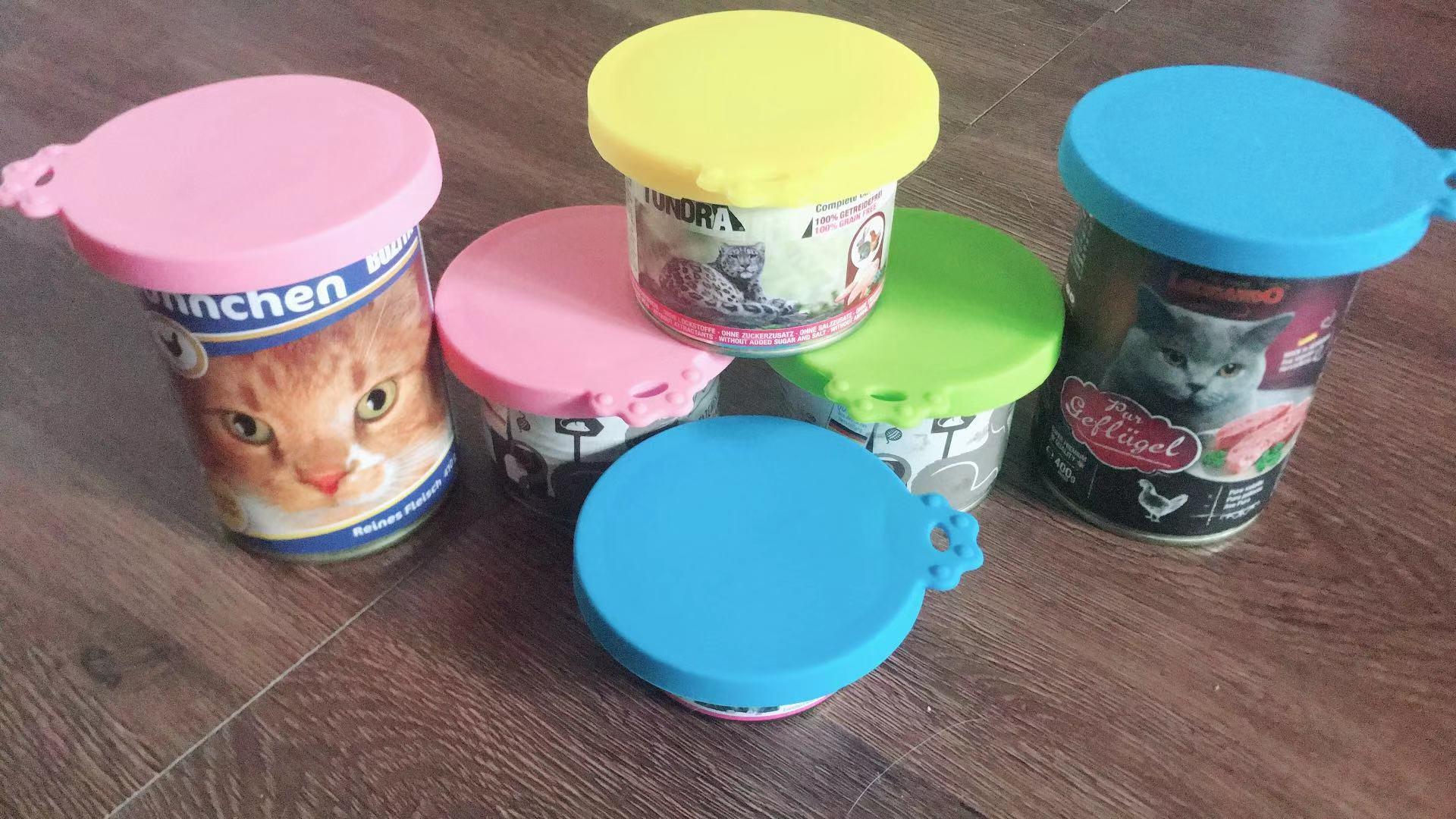 小芝麻宠物 猫咪罐头盖子勺子保鲜硅胶宠物罐头密封盖通用包邮图片