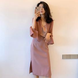 2020春装高端大码女装气场高贵短款高雅可盐可甜套装连衣裙女春秋