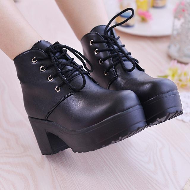 夏�� cos鞋子 cosplay鞋 ��丸�破黑白熊�M人日系松糕制服鞋 日常