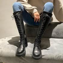 新款时尚冬季真皮加厚保暖防滑棉鞋女加绒2019牛皮雪地靴女短筒