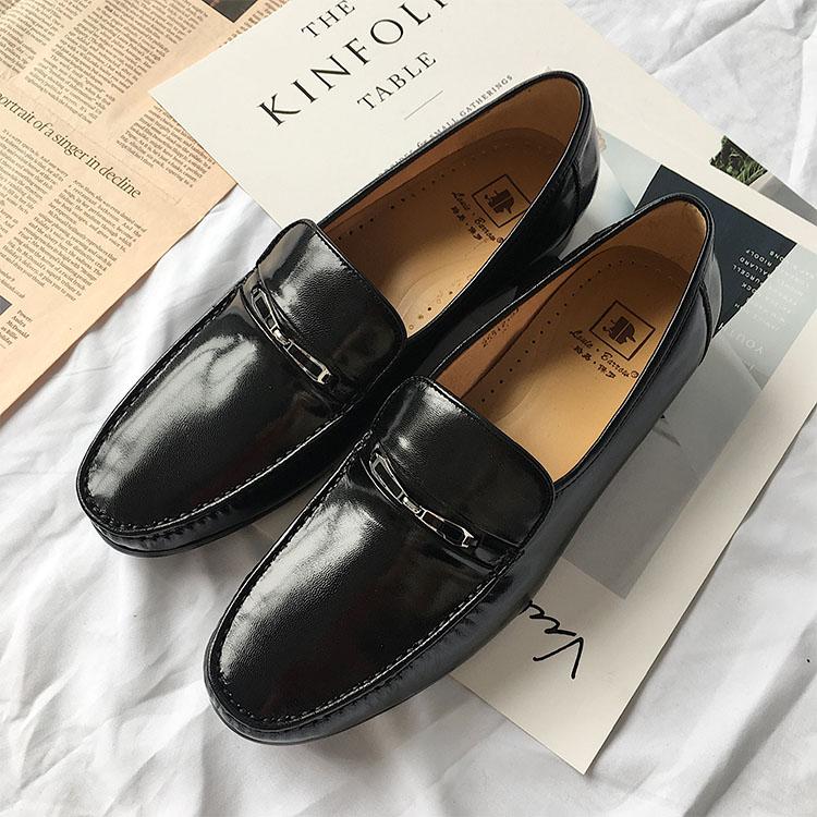 Louis Paul 2018 boutique mens shoes formal business leather leather sheepskin low top shoes mens shoes Korean fashion shoes