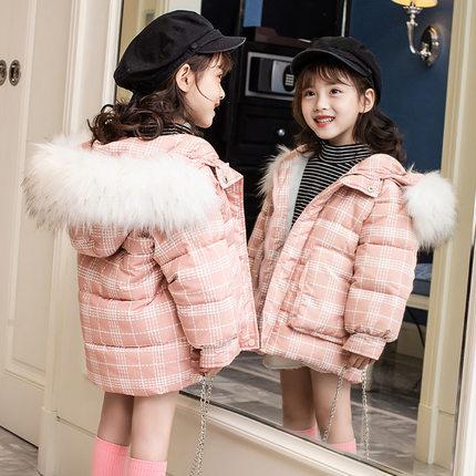 女童2019新款儿童冬季中大童面包服