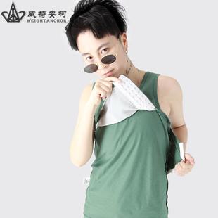 束胸les长款外穿超平塑胸无绷带加强女内衣缩胸大胸显小纯棉背心
