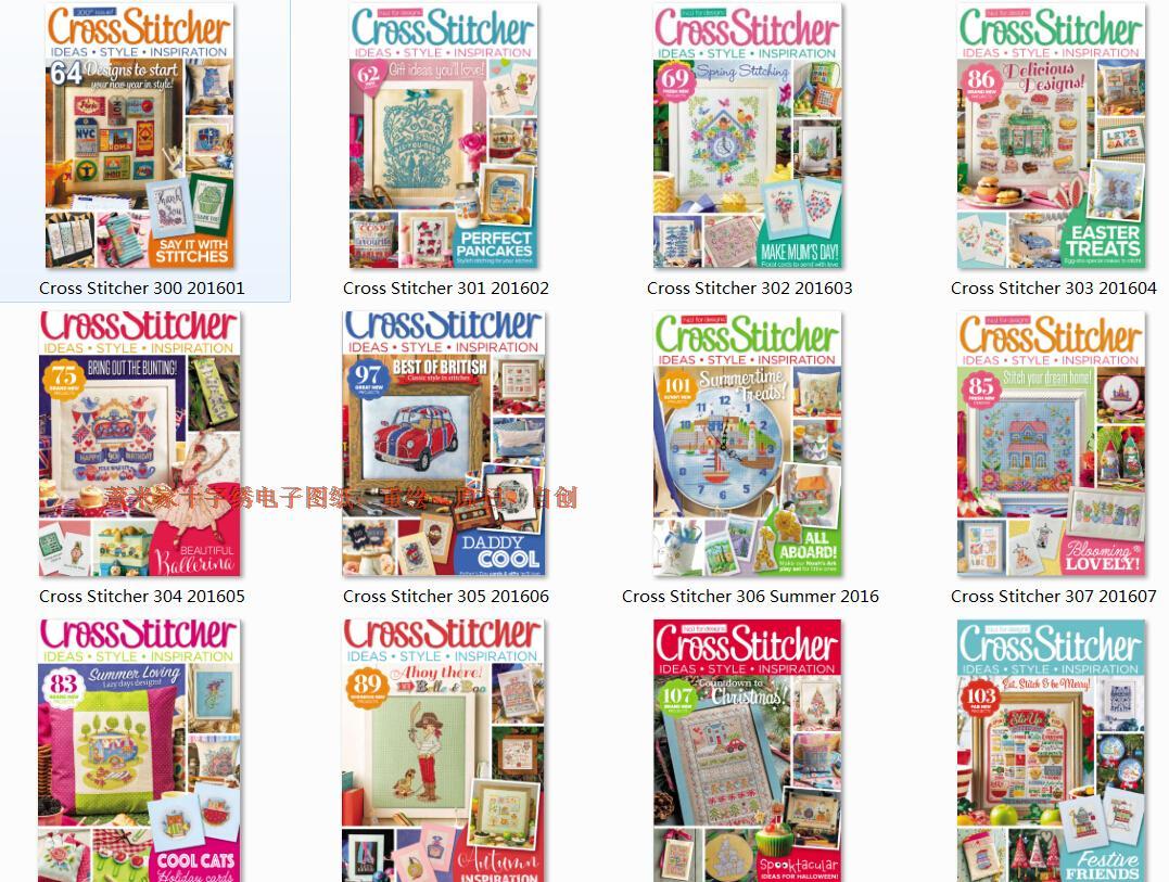 Yi метр домой # вышивка крестом электронный рисунок журнал сканирование Cross Stitcher 2016 полный год крышка 13 период