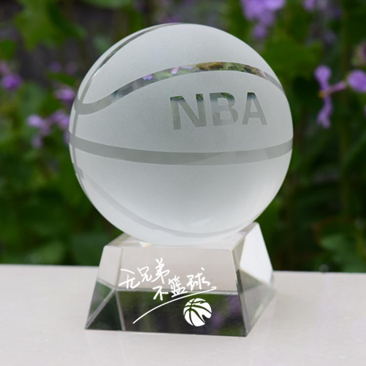 NBA水晶篮球迷用品送男生朋友同学生日礼物创意diy毕业纪念品包邮