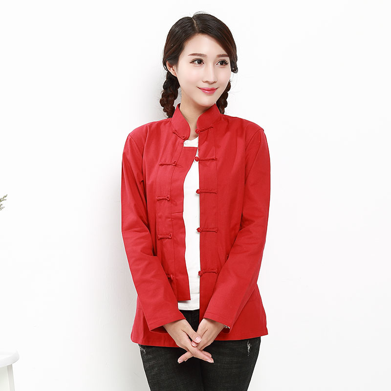 Tang suit female spring retro style Chinese style ladies ancient costume top Chinese clothing Republic of China style