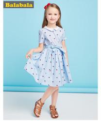 巴拉巴拉童装女童连衣裙2018新款夏装裙子中大童儿童纯棉公主裙潮