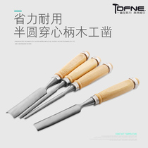 Wear the heart handle woodworking chisel slotted chisel shovel flat chisel semicircle chisel knife wooden chisel woodworking tool wooden chisel set