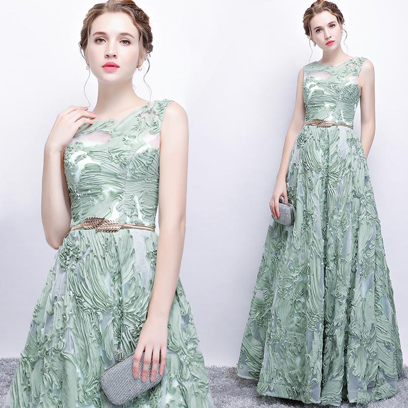 宴会晚礼服2018新款时尚修身显瘦长款高贵优雅主持人晚装连衣裙女