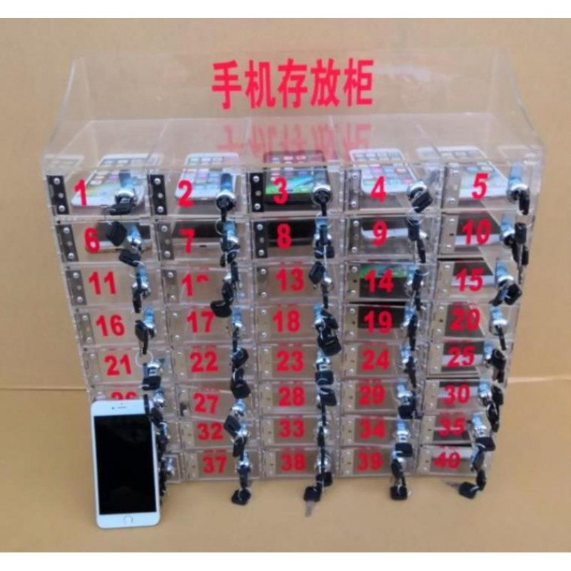 Employee mobile phone collection box cake store storage cabinet workshop safe deposit box sales department mobile phone locker