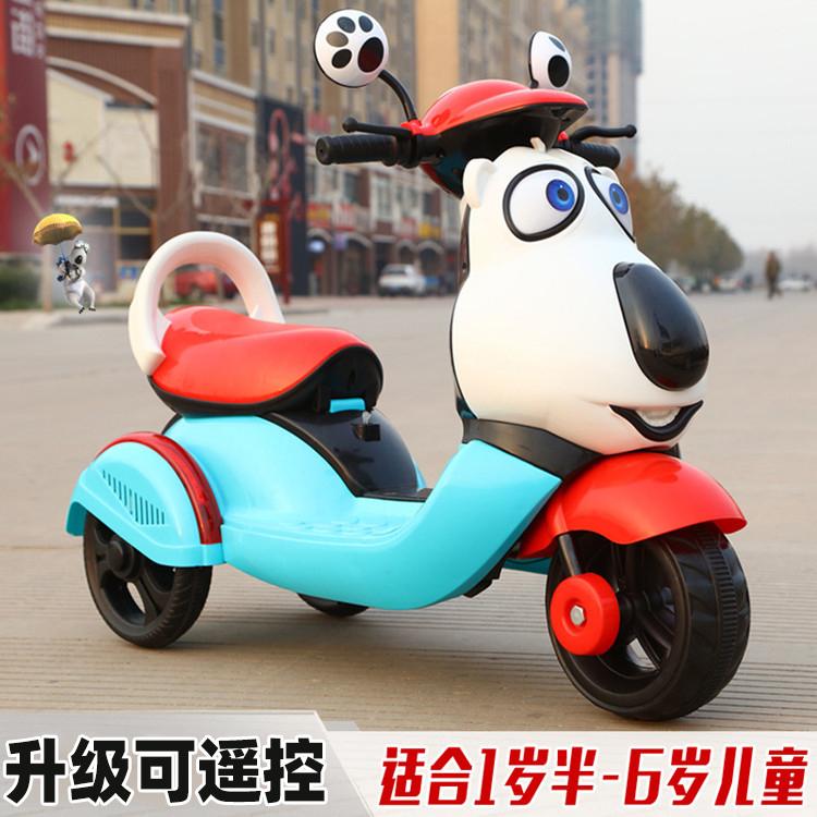 兒童充電電動摩托車小孩寶寶女孩男生可愛嬰兒童車三輪車玩具可坐