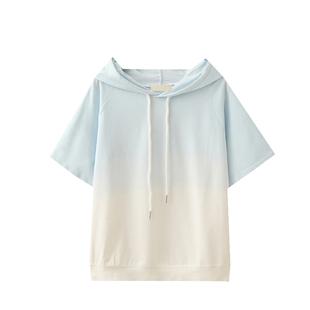 12-14-16歲高中初中學生漸變色純棉短袖T恤女寬鬆元氣少女穿搭夏