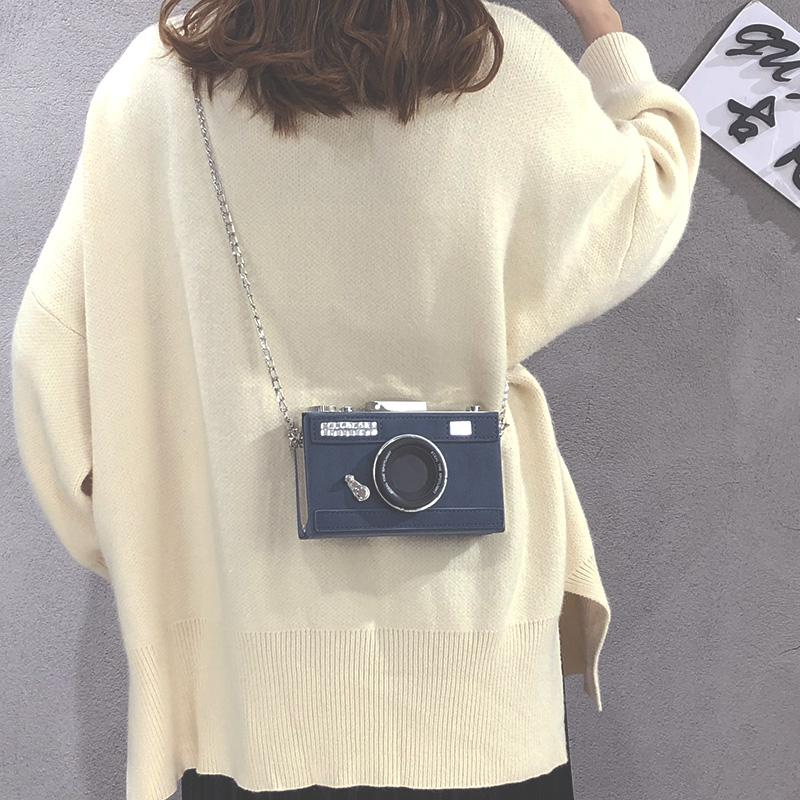 Hong Kong style bag women 2020 new fashion fashion retro frosted small square bag camera bag Korean version versatile messenger bag