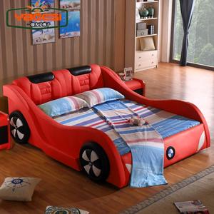 儿童床汽车真皮...