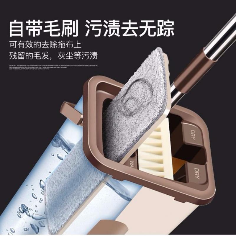 免手洗平板拖把刮刮乐家用旋转墩布吸水海绵拖布干洗湿两用拖布桶
