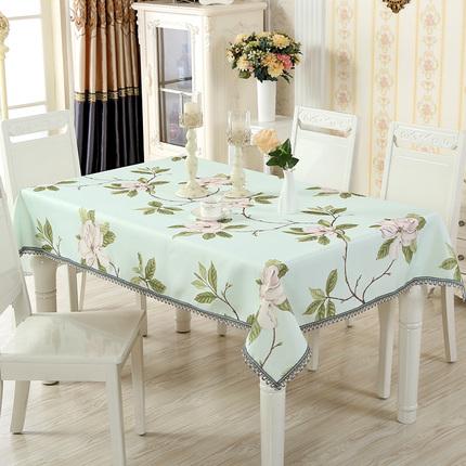 桌布布艺田园小清新家用客厅素色长方形正方形碎花茶几餐桌布