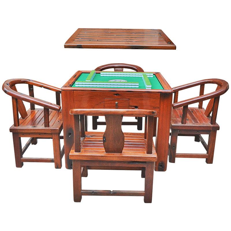 卡本特古船木麻将桌加盖餐桌两用全自动麻将机实木家用电动高档中