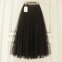 查看2021新款春秋冬季中长款高腰蓬蓬裙超仙女网纱裙多层半身裙子长裙价格