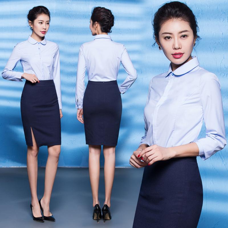 艾尚臣职业装女装套裙女正装套装西装西服前台空姐制服工作服工装