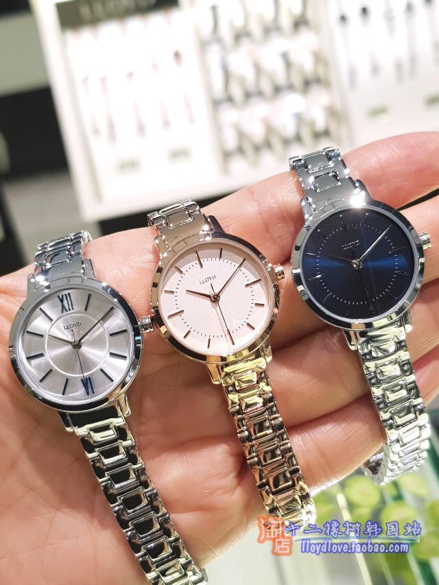 韩国女表lloyd专柜女表新款时尚潮流26mm简洁钢链淑女腕表原包装
