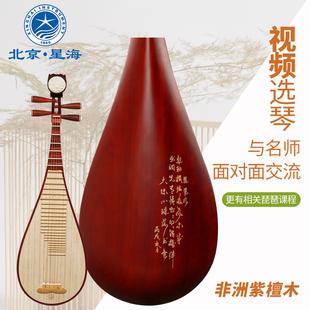 28912演奏考级琵琶非洲紫檀材质木轴木相琵琶北京星海琵琶乐器