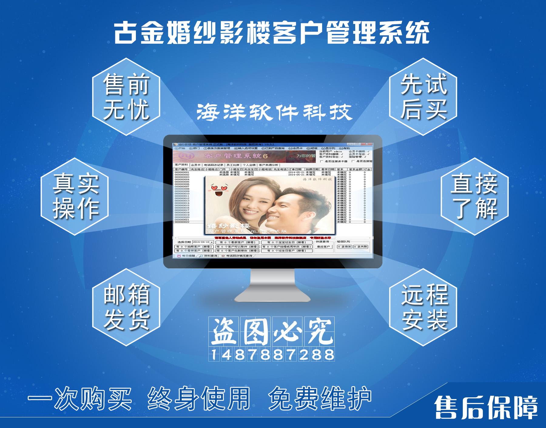 Управление клиентами свадебной фотостудии система V6.51 версия Информация о клиентской информации до и после напоминания о программном обеспечении для управления