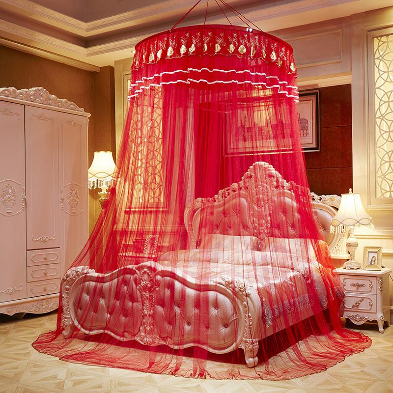 网红圆顶蚊帐学生宿舍1.2米床1.8m床1.5m床双人家用公主风免安装