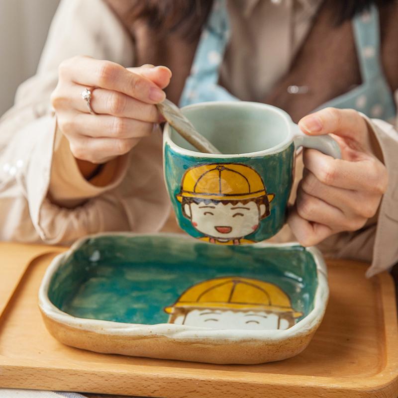 12月04日最新优惠燚坊陶瓷可爱丸子咖啡创意杯子