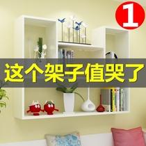 欧式实木墙上置物架壁架创意客厅卧室搁板壁挂简约书架墙壁一字板