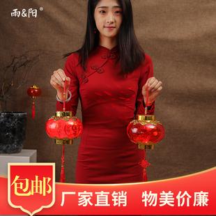 水晶新年裝飾元旦春節元宵紅燈籠