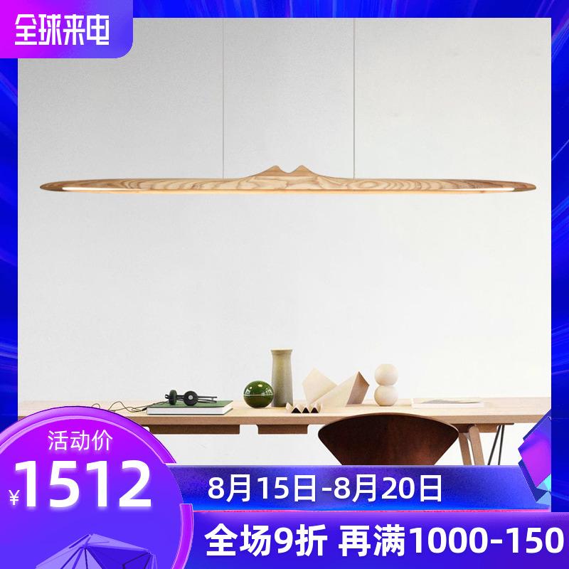 长条灯餐厅新中式茶室日式吧台禅意吊灯led新品北欧极简个姓实木