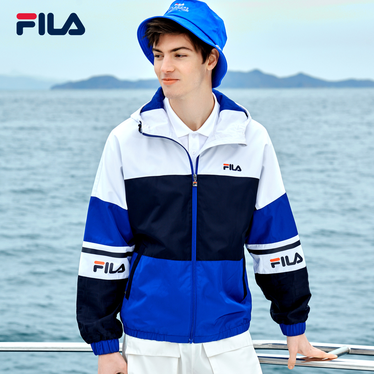 FILA FILA official men's tatting jacket coat 2020 spring new leisure fashion loose top men
