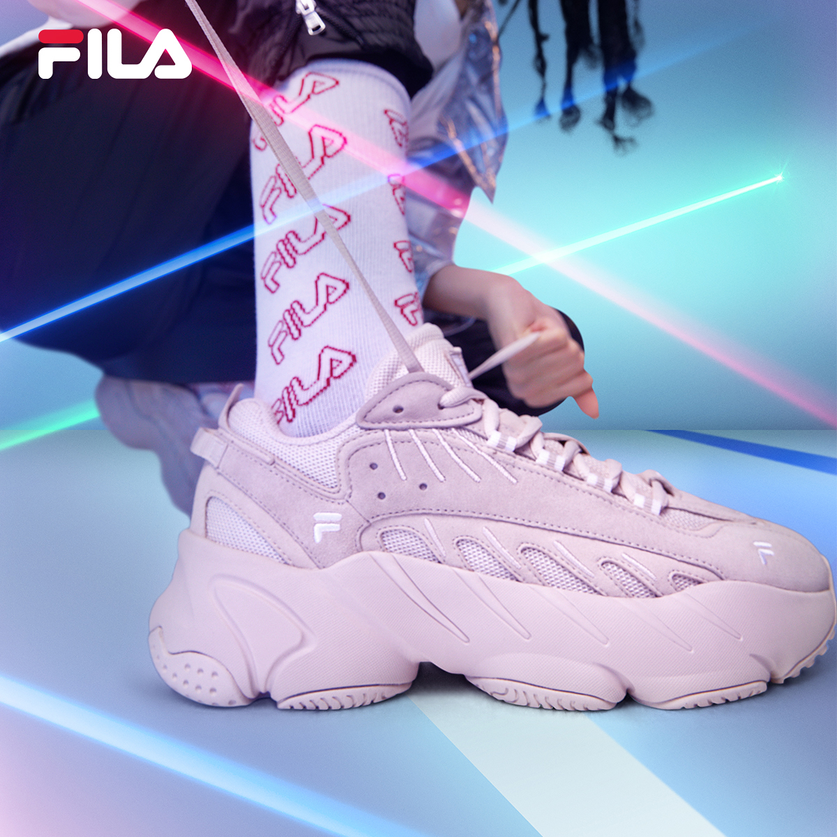 FILA FILA 2020 spring new ade running shoes dad shoes women's sports shoes leisure running shoes women's shoes
