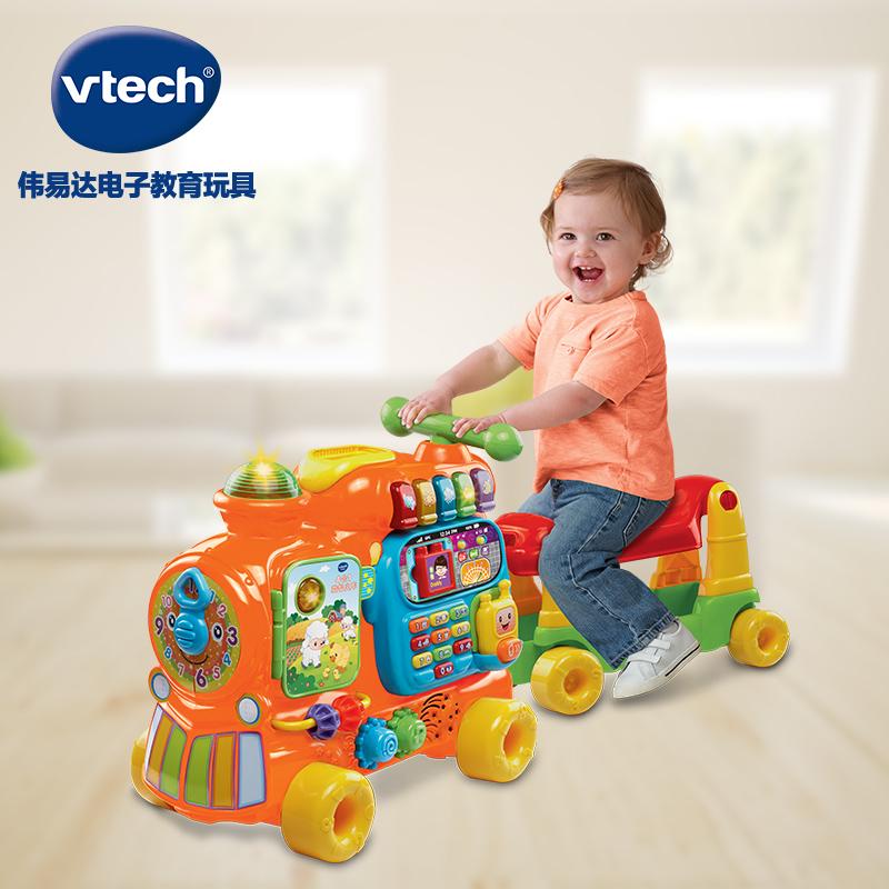 VTech伟易达4合1益智火车音乐骑行车四轮学步车中英文学习玩具车