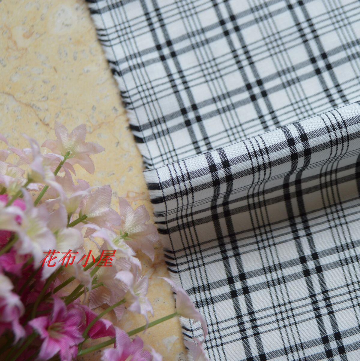 优质纯棉布料色织格子棉布服装衬衫裙子手工DIY布艺面料9元半米