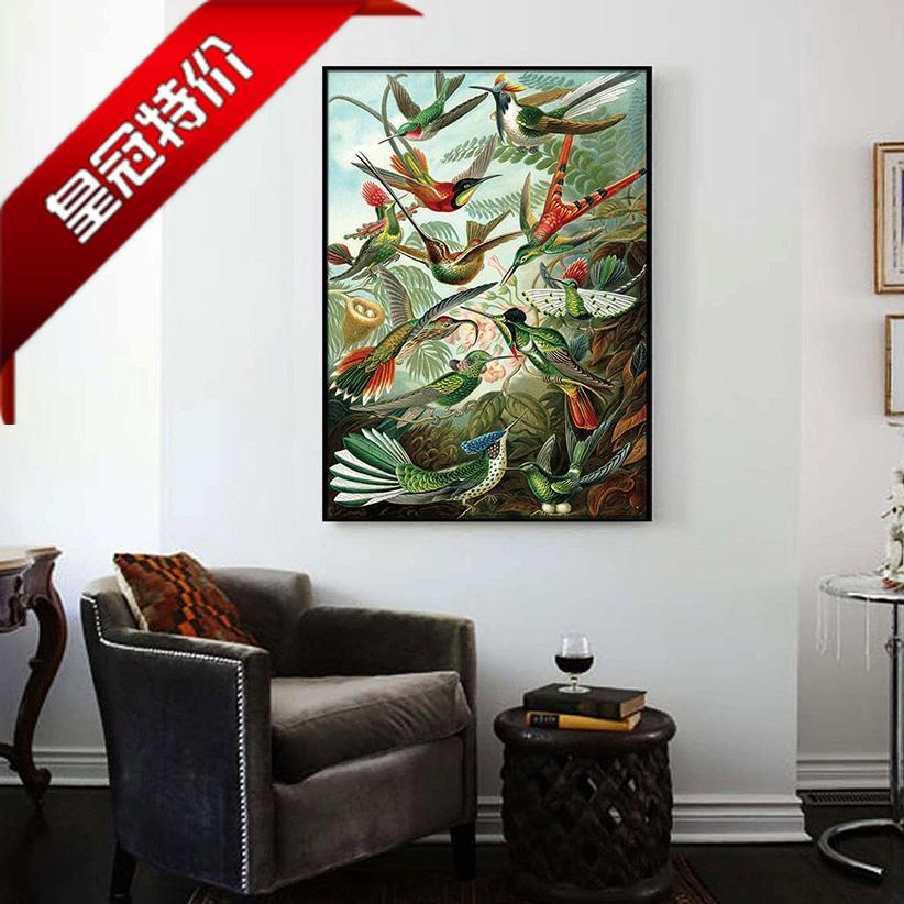 Bird atlas retro style home store gift decoration picture hanging picture can be customized