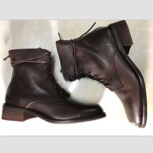2019秋冬新款欧美风时尚方头短靴马丁靴中跟粗跟裸靴女单靴机车靴