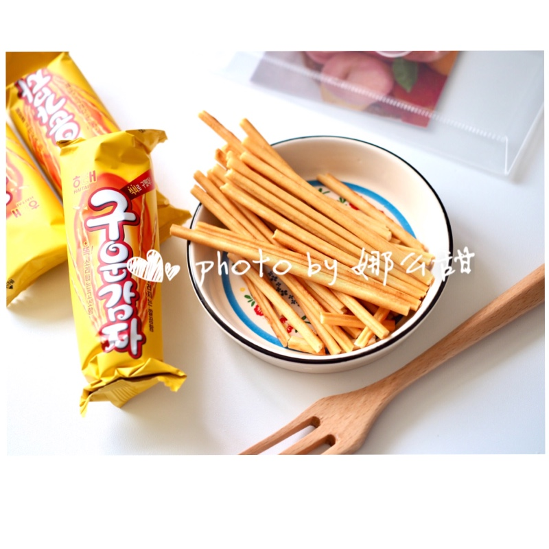 Package mail South Korea hot selling imported biscuits Haitai baked potato stick potato stick net red snack 108G