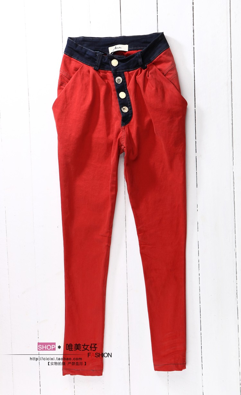 Break size clearance pants womens 2021 fashion versatile spring womens pants Harem Pants casual slim mid low waist