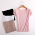 Summer new ladies seamless short-sleeved T-shirt round neck modal loose top solid color wild student bottoming shirt